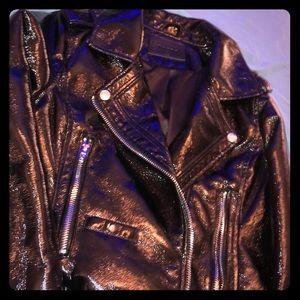 BLANK NYC Holographic Vinyl Moto Jacket